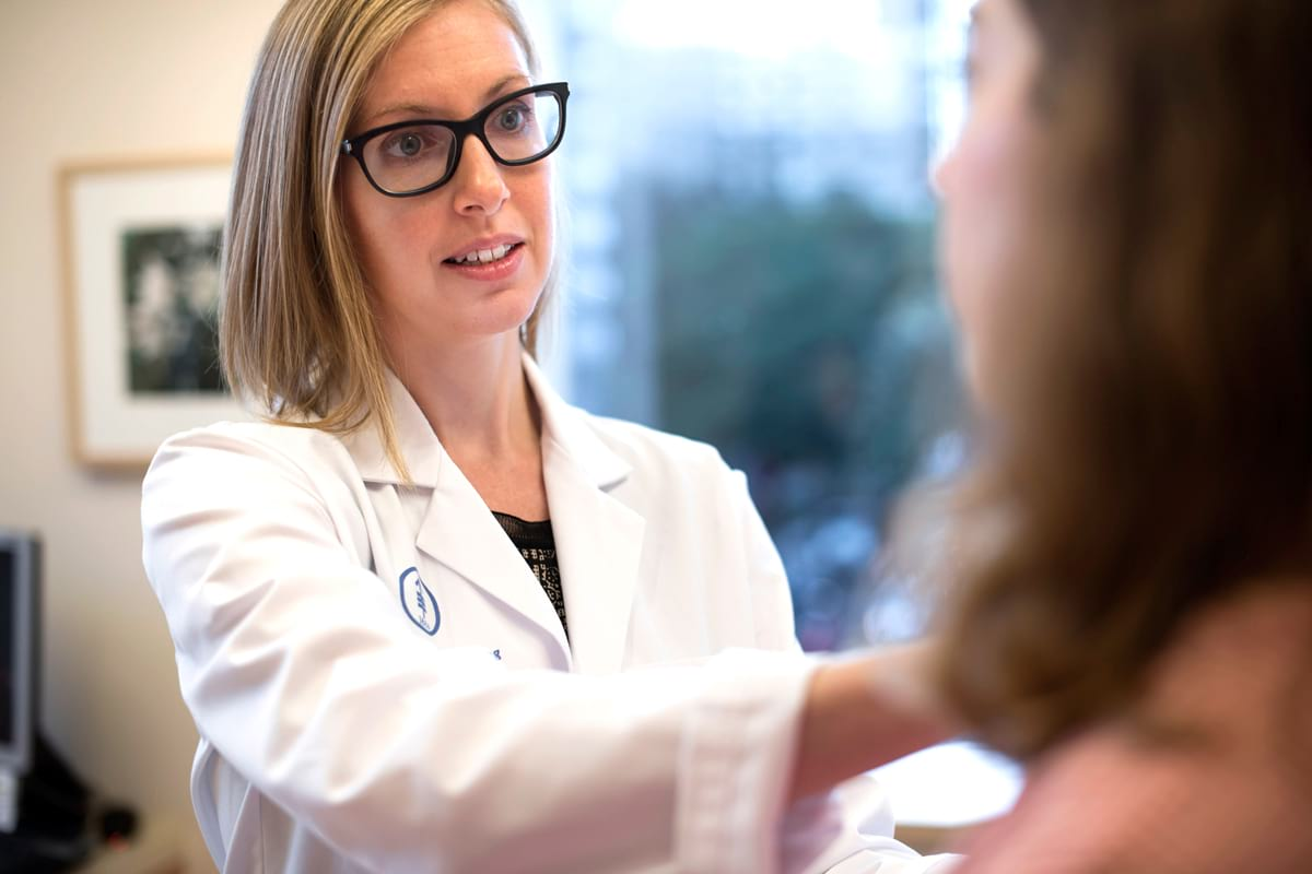 Memorial Sloan Kettering surgeon Melissa Pilewskie cares for women with breast cancer