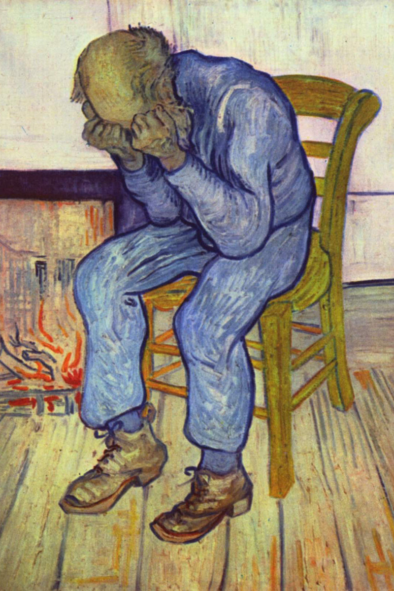 Pictured: At Eternity's Gate by Vincent van Gogh