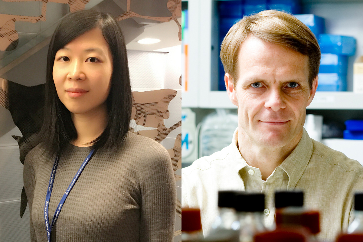 SKI postdoctoral fellow Yuchen Qi and Director of the Center for Stem Cell Biology Lorenz Studer