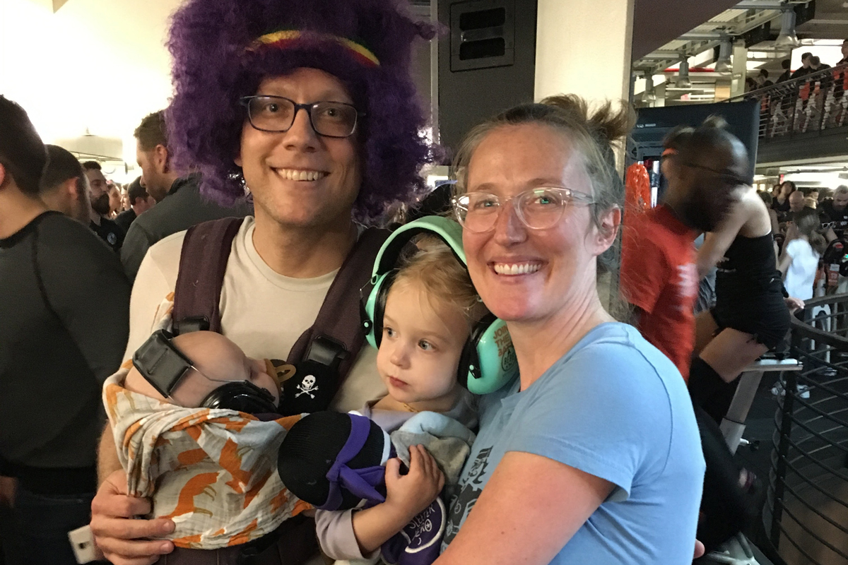 Family at Cycle for Survival