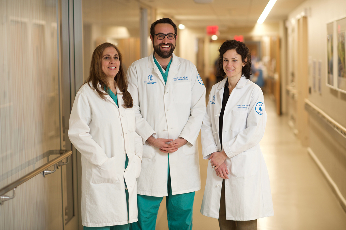 Members of the Multidisciplinary Pituitary and Skull Base Tumor Center Viviane Tabar, Marc Cohen, and Eliza Geer