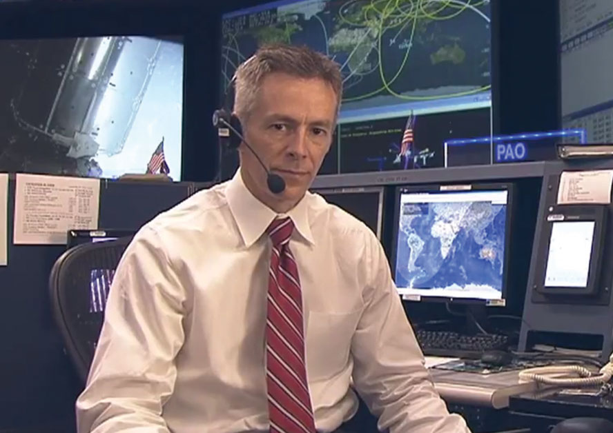 Christian Otto at NASA Mission Control