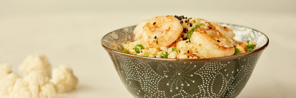 Cauliflower Rice with Shrimp