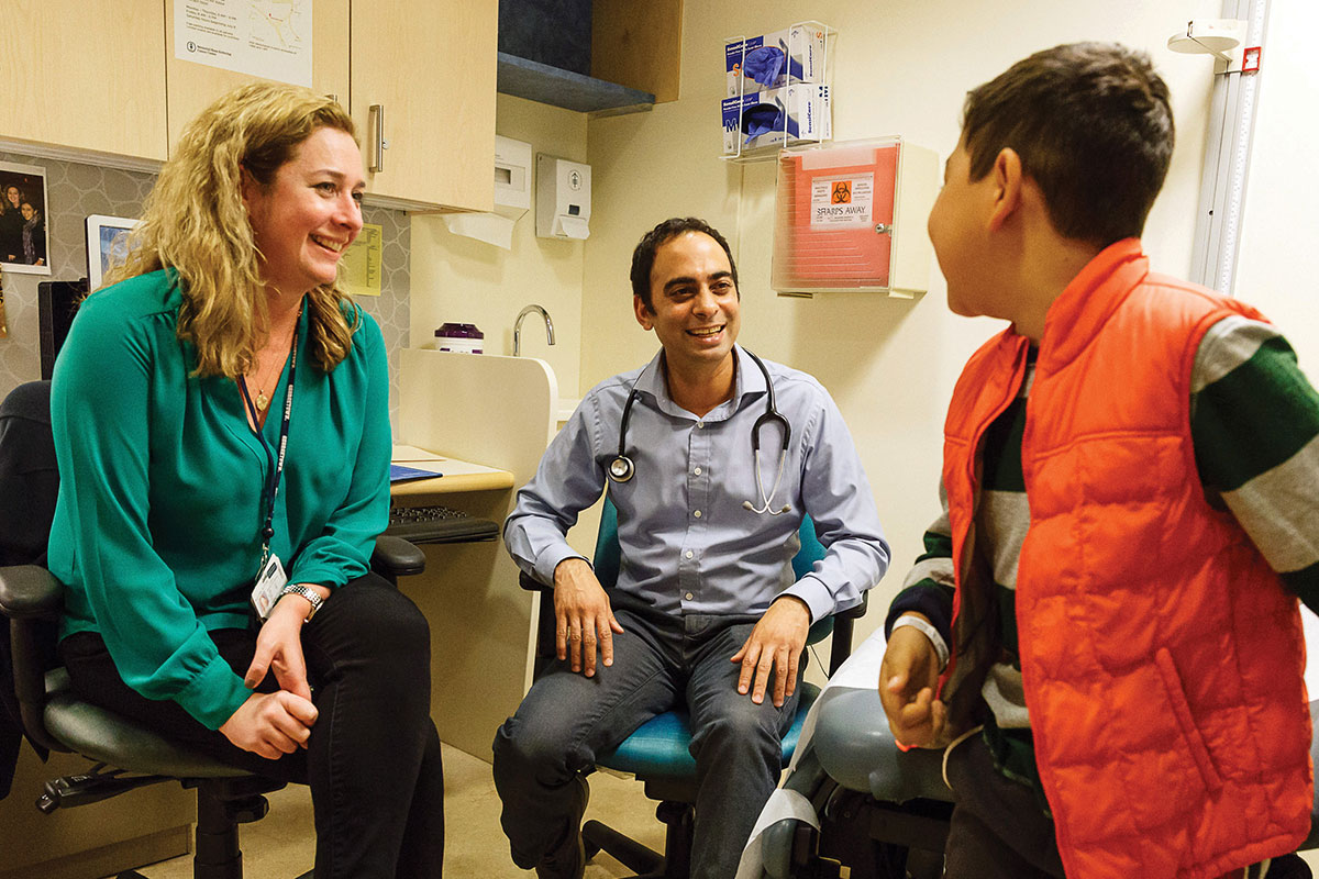 Nurse practitioner Kateri McGuire and pediatric oncologist Neerav Shukla