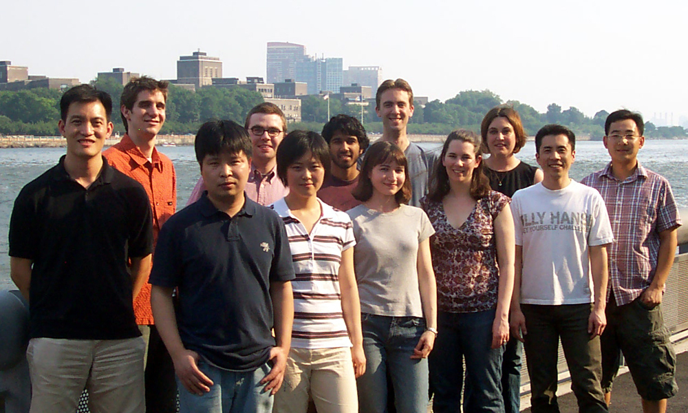 The Tan Group - July 18, 2006 -- (back row, from l): Derek Tan, Justin Cisar, Chris Stratton, Neal Amin, Justin Potuzak, Danielle Norman, Guodong Liu; (front row): Xuequan Lu, Shiying Shang, Sirkka Moilanen, Chris DiBlasi, and Hayato Iwadare.