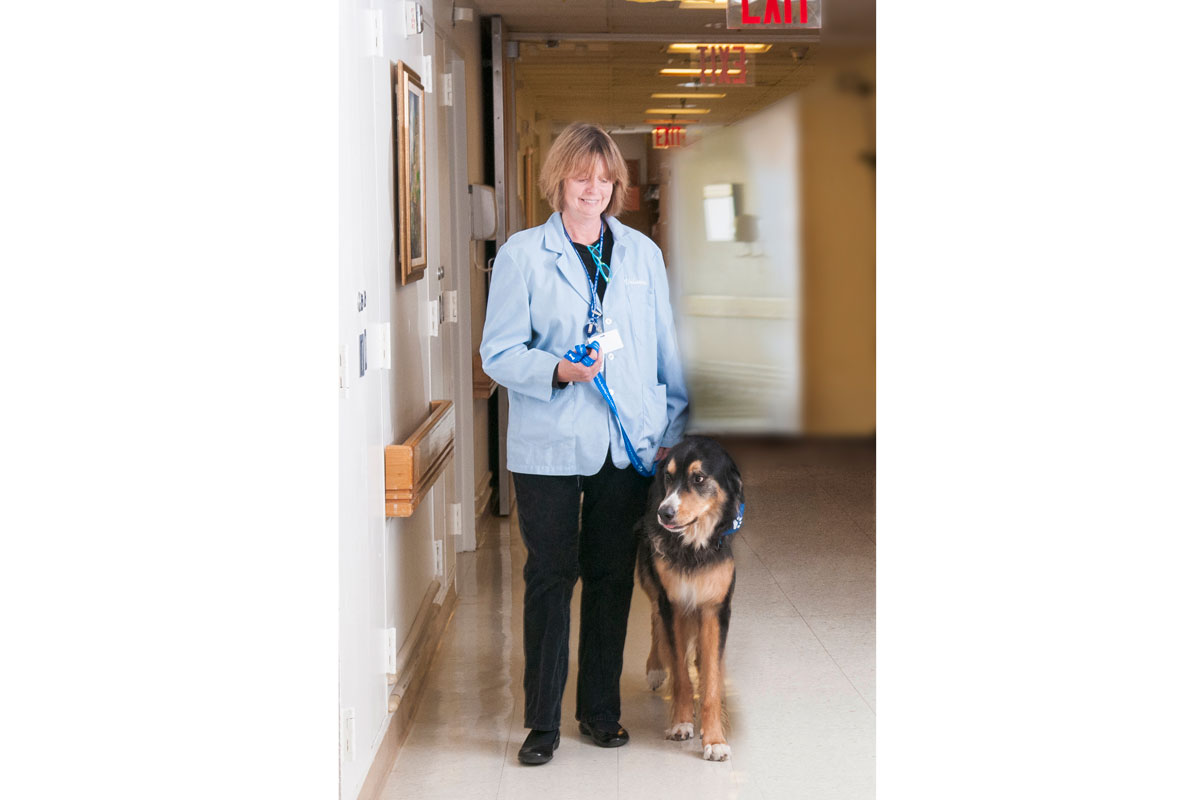 Jane Kopelman and her dog Wally