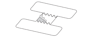 Figure 7. Removing backing from UC Strip