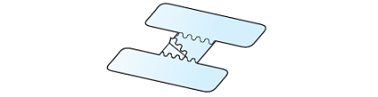 Figure 14. Peeling off center section of UC Strip fastener