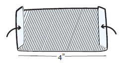 Figure 17. Folding down sides of Micropore paper tape
