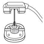 Figure 6. Implanted port needle in locked safety position