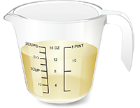 Рисунок1. 12 унций (354,9мл) прозрачных жидкостей