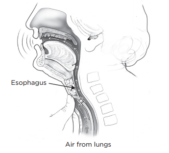Figure 11. Finger occlusion for TEP speech, side view