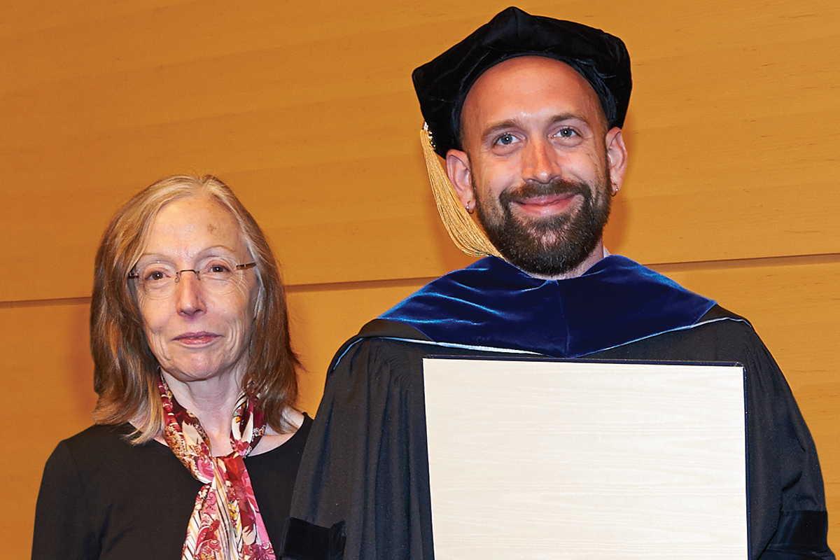 Kathryn V. Anderson, Chair, Developmental Biology Program with James Mahaffey