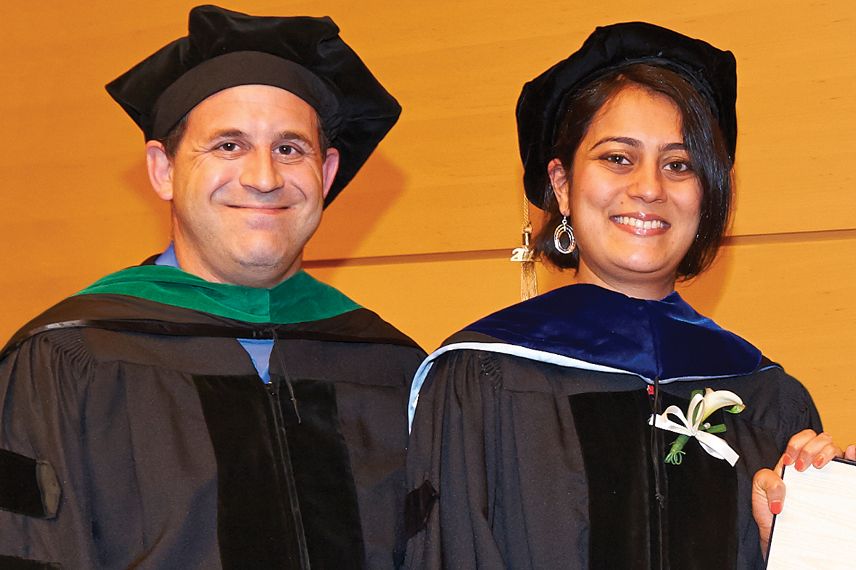 Physician-scientist Ross L. Levine with Neha Bhagwat