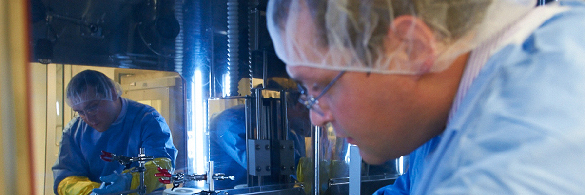 Serge Lyashchenko in the cyclotron facility