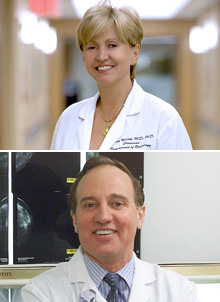 Hedvig Hricak, Chair, Department of Radiology; David D. Dershaw, Director of Breast Imaging
