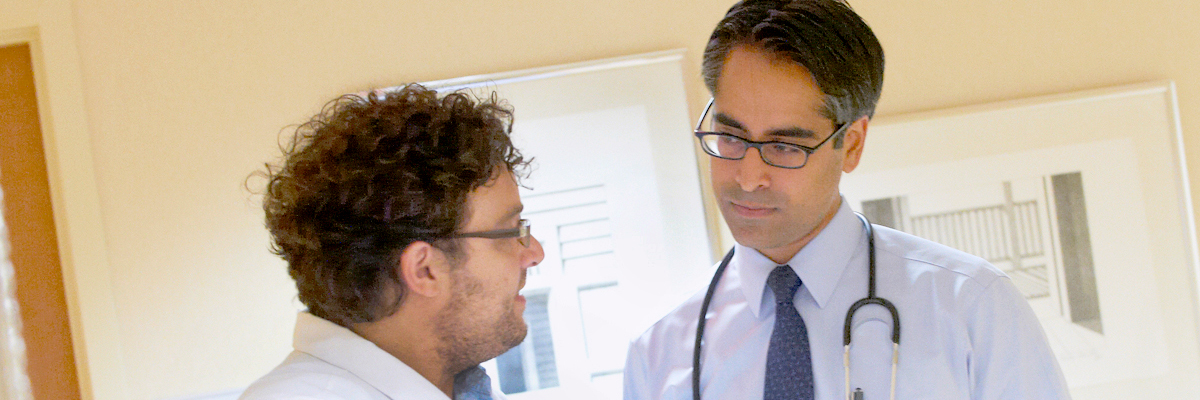 MSK Interventional Pulmonologist Mohit Chawla (right)