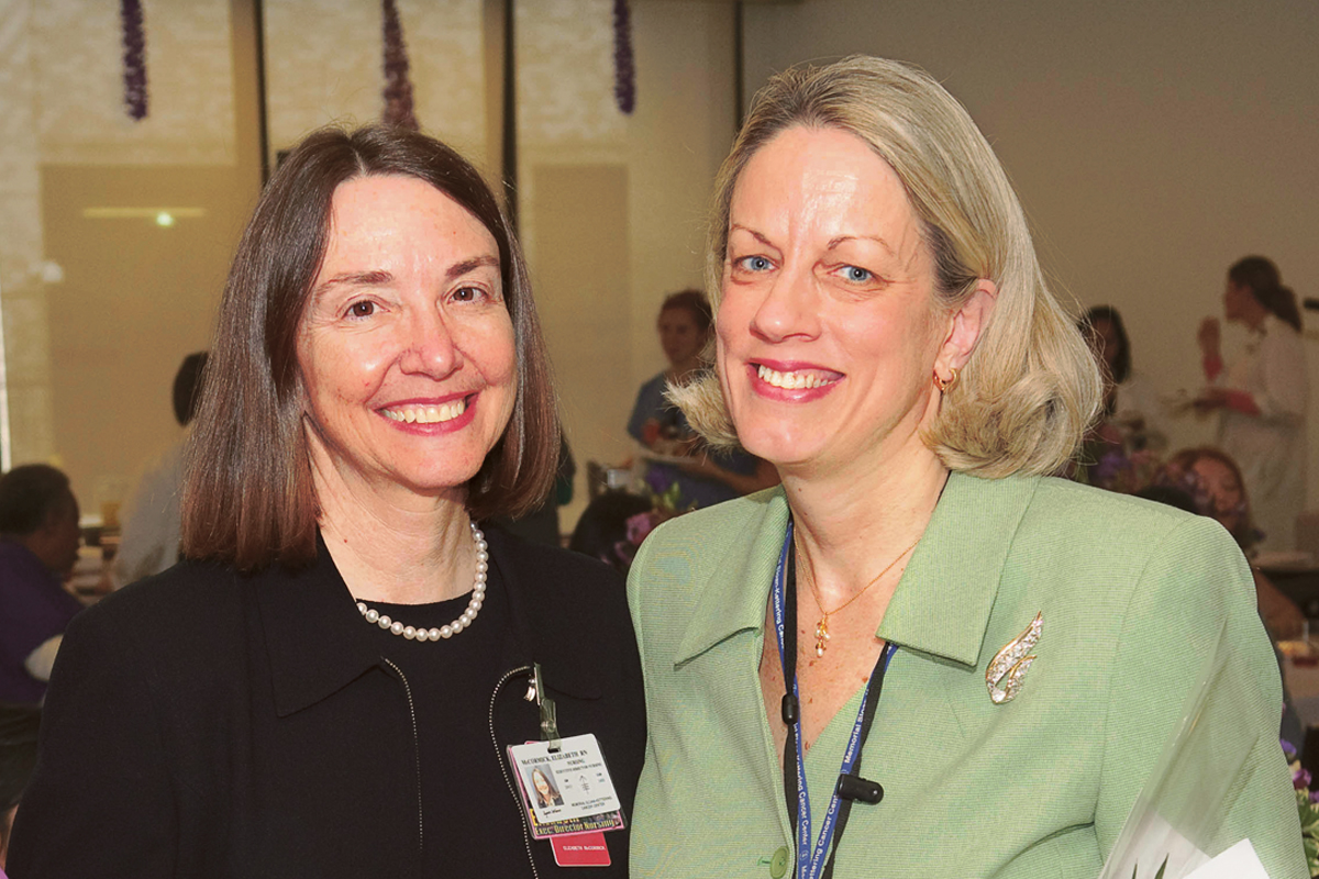 Mary Lakaszawski and Elizabeth McCormick.