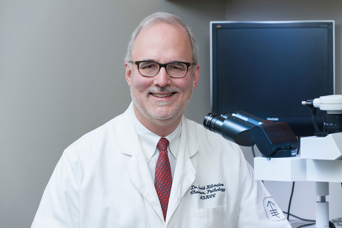 Pathology department chair David Klimstra leads a team that reviews thousands of samples each year and generates more than 125,000 diagnostic reports.