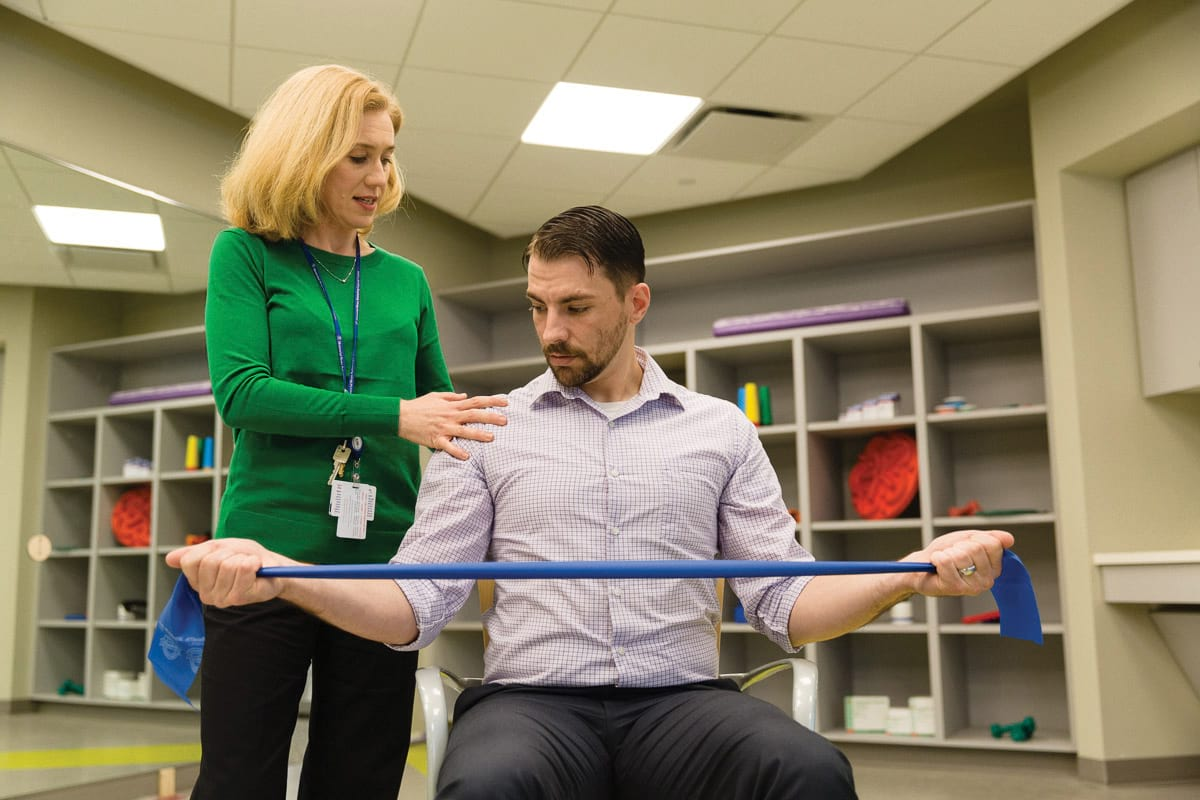 Rehabilitative therapy at MSK Monmouth