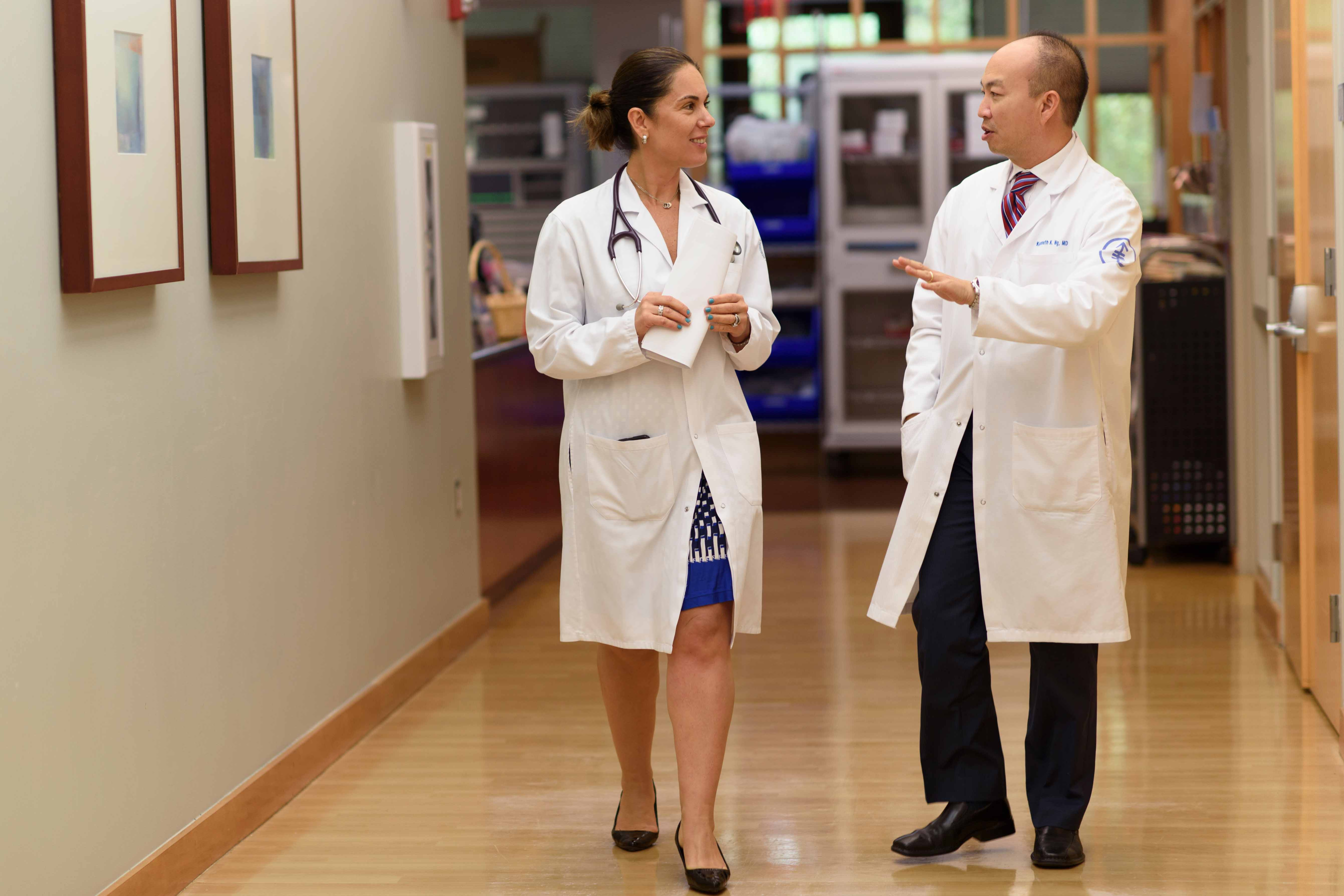 MSK medical oncologists Kenneth Ng and Zoe Goldberg