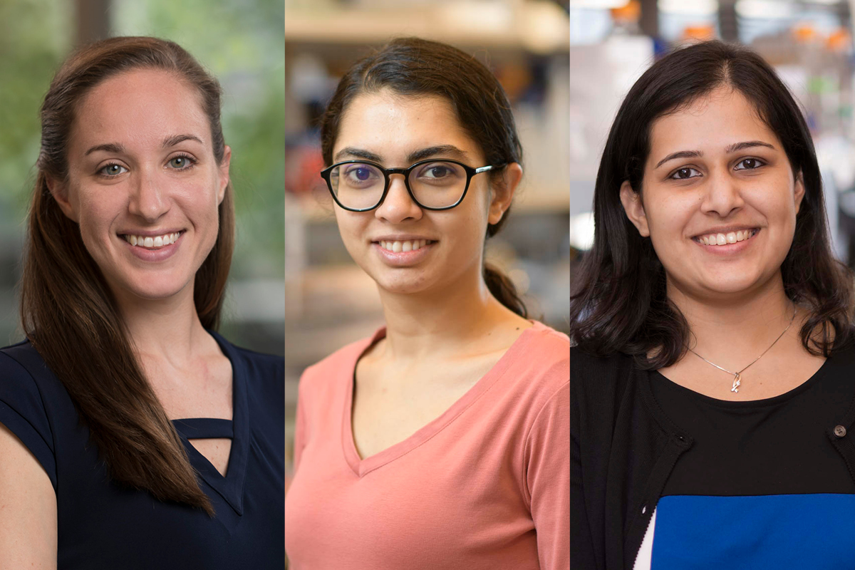 three winners of the Kravis WiSE fellowships
