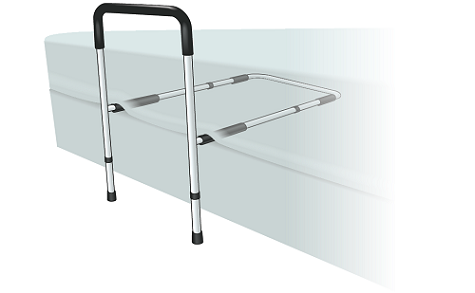 Figure 2. Bed cane placed between mattress and box spring