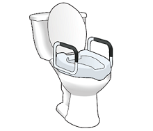 Figure 3. Raised toilet seat with arms