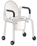 Figure 6. Rolling commode