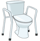 Figure 7. Toilet with toilet frame