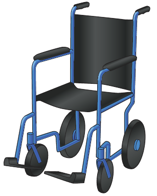 Figure 1. Transport wheelchair