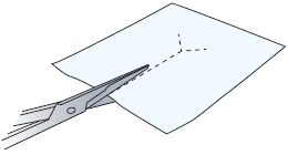 Figure 6. Cutting slit in Telfa