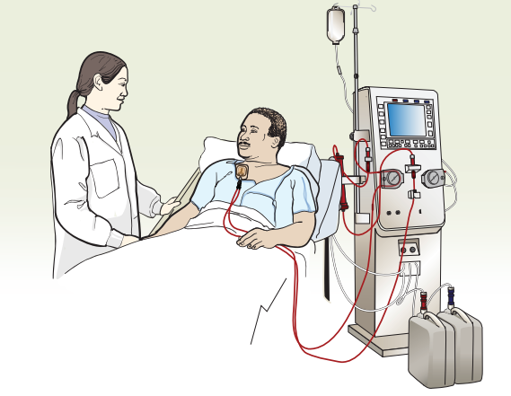 Figure 3. A patient receiving dialysis