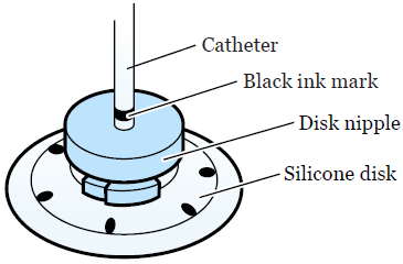 Figure 1. Black mark above the disk