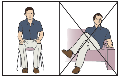 Figure 6. Sitting with uncrossed legs