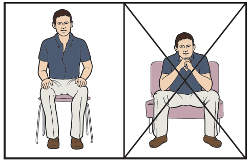 Figure 5. Sitting on firm chairs