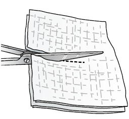 Figure 2. Cutting the gauze