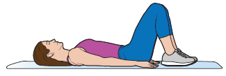 Figure 1. Lying on your back with your knees bent