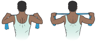 Figure 14. Moving your arms back and squeezing your shoulder blades together