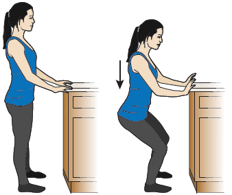 Figure 5. Bending your hips and knees