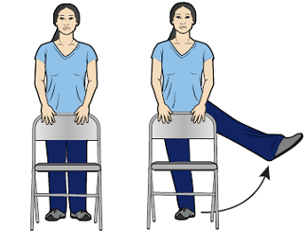 Figure 9. Lifting your leg to the side