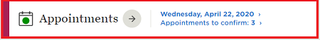 "Figure 1. Click ""Appointments"""