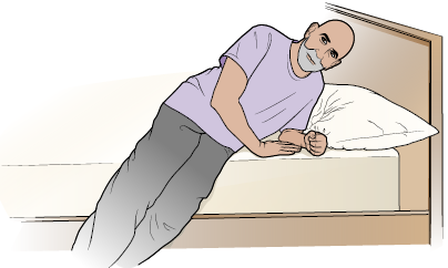Figure 2. Use your arms to help yourself sit up