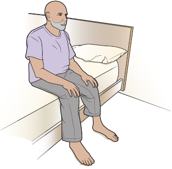 Figure 3. Sit on the side of the bed