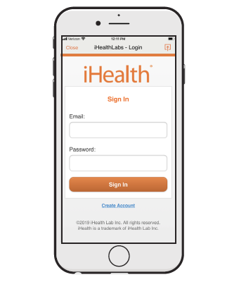 Figure 6. The iHealth login screen