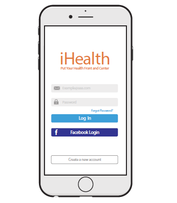 Figure 10. The iHealth MyVitals app login screen