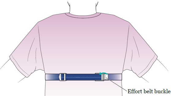 Figure 4. Use the buckle to adjust the effort belt