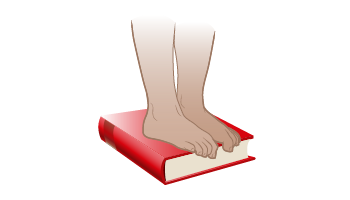 Figure 2. Toe curls using a book