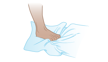 Figure 3. Toe curls using a towel
