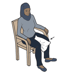 Figure 8. Seated pillow squeezes